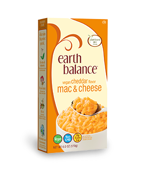 Vegans Rejoice! Earth Balance Makes a Dairy-Free Spin on the Classic, Boxed Mac n' Cheese