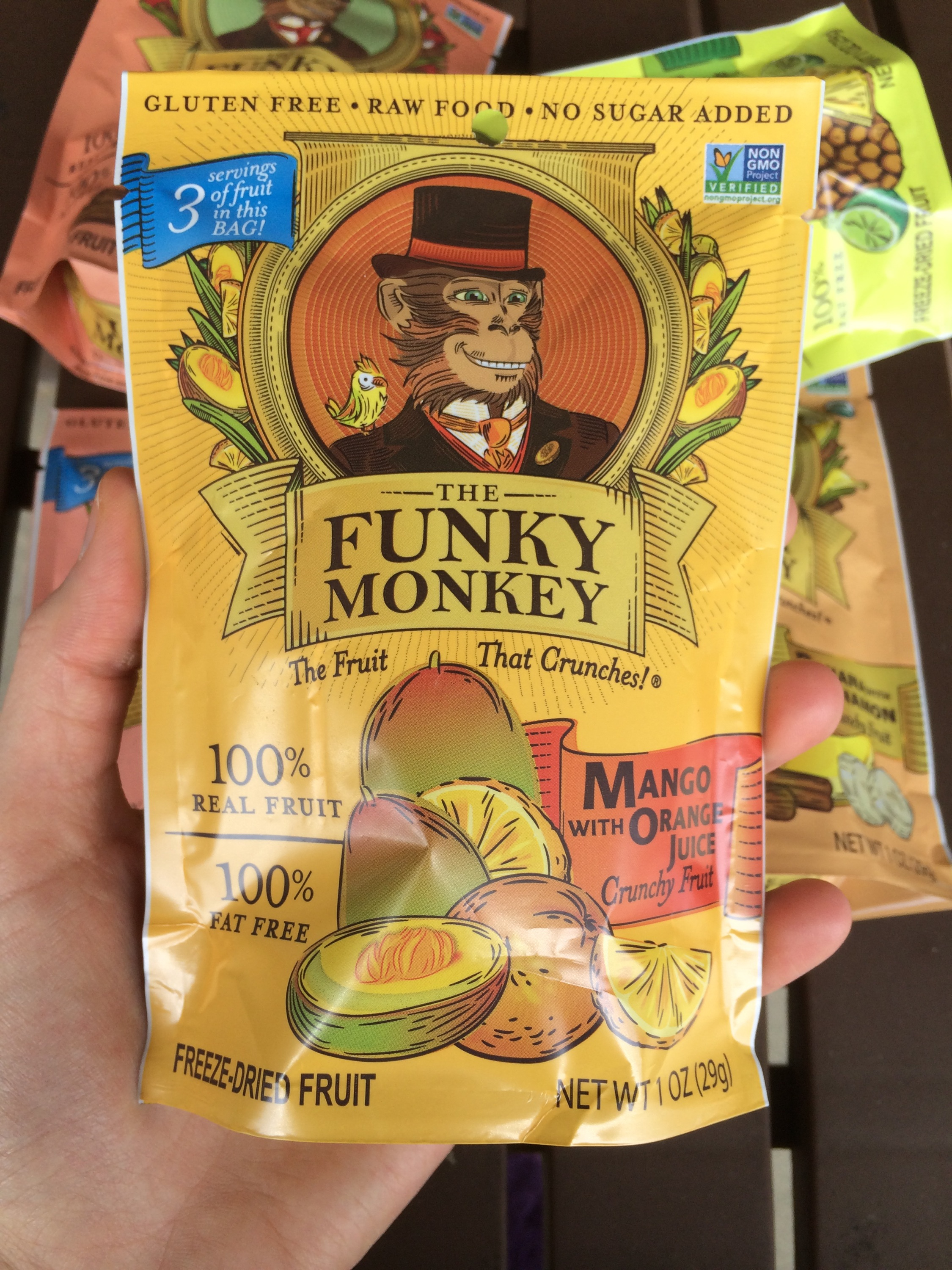 Food Review - The Funky Monkey Freeze-Dried Fruit (Free Of The Top 8 Allergens!) - Lazy Girl Vegan