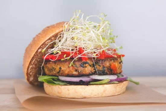 Veggie Burger Spotlight – Sprouted Veggie Burger from The Counter in Times Square, NYC