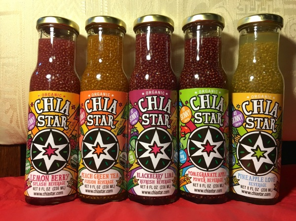 Review – Chia Star – Organic, Non-GMO Chia Seed Beverages in Fruit Flavors