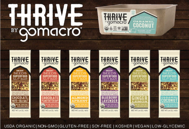 Giveaway — Win an Assorted Box of Organic, Vegan & Gluten-Free GoMacro Thrive Bars