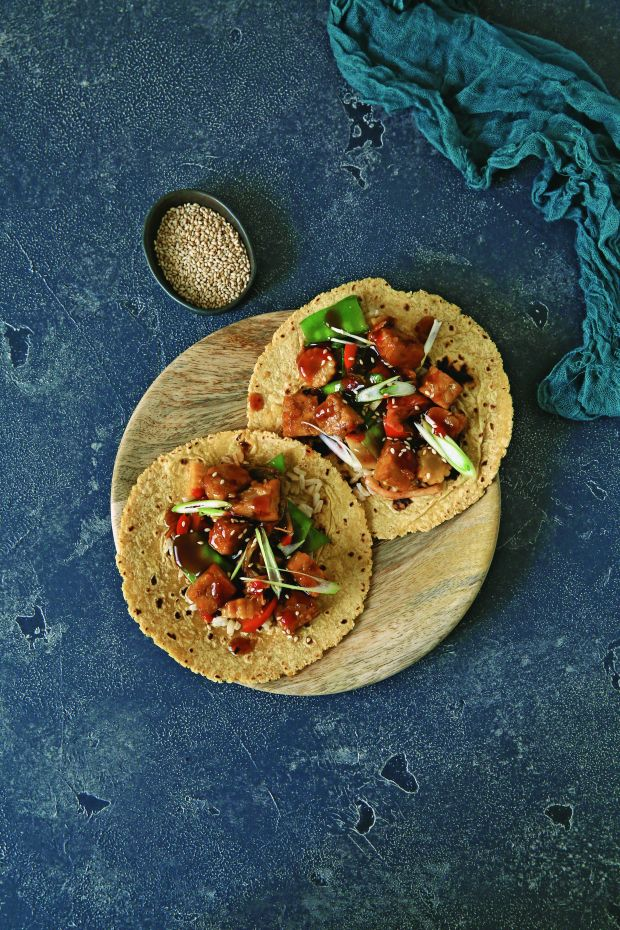 Easy Vegan Recipe – Teriyaki Tempeh Tacos from Bold Flavored Vegan Cooking